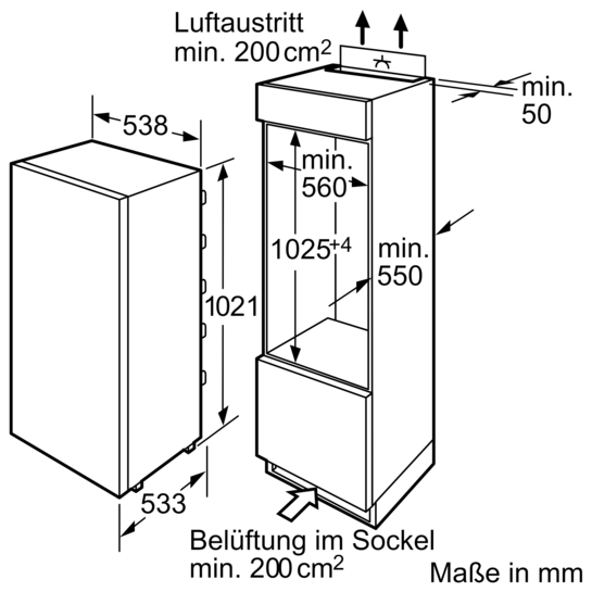 einbau k hlautomat vitafresh flachscharnier technik iq500 ki20fa50 siemens. Black Bedroom Furniture Sets. Home Design Ideas
