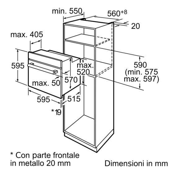 Forno multifunzione acciaio inox iq500 hb42ar555e for Lavastoviglie siemens istruzioni