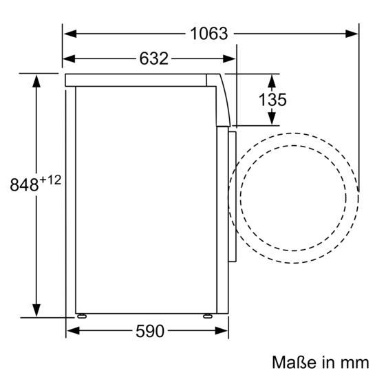 Waschmaschine - iQ800 - WM6YH890 | SIEMENS | {Küchenarbeitsplatte höhe 52}