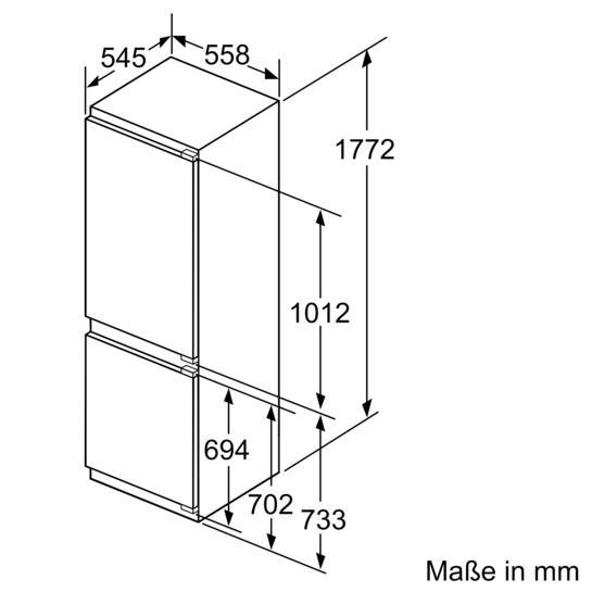 einbau k hl gefrier kombination flachscharnier technik iq500 ki86saf30 siemens. Black Bedroom Furniture Sets. Home Design Ideas