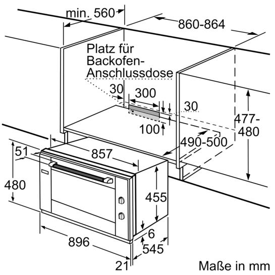 90 cm einbaubackofen hb933r51 siemens. Black Bedroom Furniture Sets. Home Design Ideas