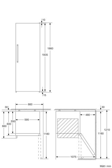 Line Drawing Ks : Vinkylskåp cm front i aluminium iq ks wa
