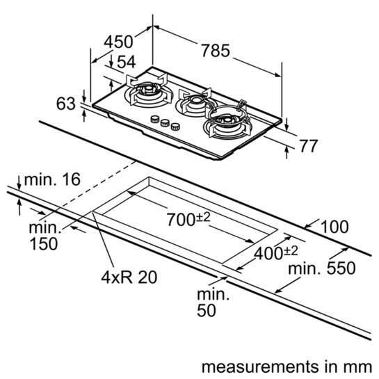 bosch stove top instructions