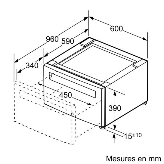 socle de l appareil accessoires en option lave linge. Black Bedroom Furniture Sets. Home Design Ideas