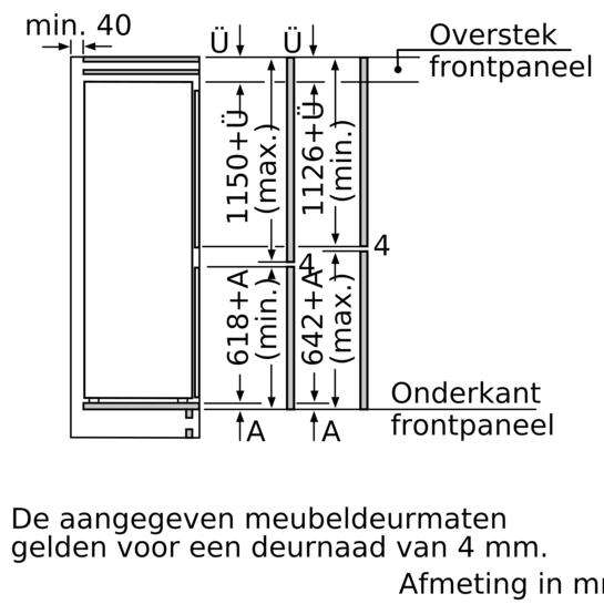 Integreerbare koel vriescombinatie iq500 ki87ssd30 for Bosch inspiratiehuis