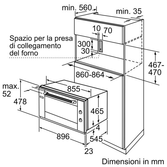 Forno da incasso 90 cm iq500 hv541ans0 siemens - Forno da incasso 90 cm ...