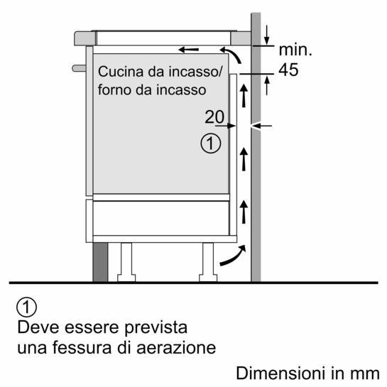 Piano cottura ad induzione 80 cm - vetroceramica Finitura topClass ...