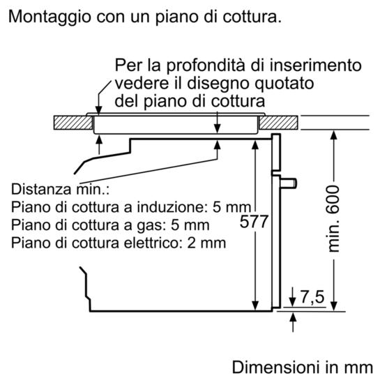 Forno inc elettronic pirolitico a iq700 hb676g0s1f for Piano cottura induzione bosch pia611b68j istruzioni
