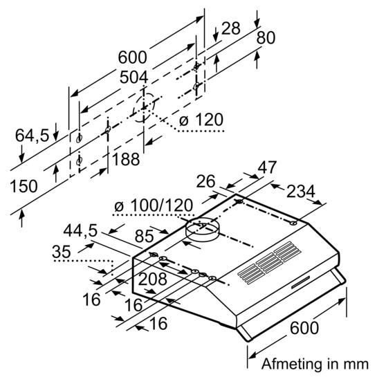 onderbouw afzuigkap iq100 lu63lcc50 siemens. Black Bedroom Furniture Sets. Home Design Ideas