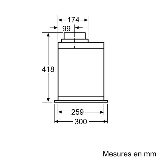 groupe filtrant 52 cm iq500 lb57574 siemens. Black Bedroom Furniture Sets. Home Design Ideas