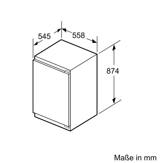 Drawing Lines Media Group : Einbau kühlschrank mit weißer türfront und alu dekorrahmen
