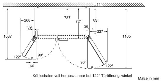 nofrost k hl gefrierkombination side by side t ren edelstahl antifingerprint iq500. Black Bedroom Furniture Sets. Home Design Ideas