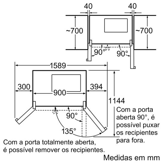 Frigor fico americano portas inoxlook iq500 ka60na45 - Medidas frigorifico americano ...