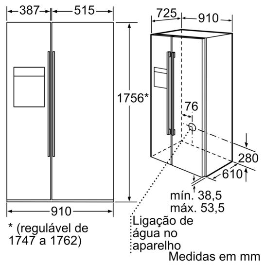 Frigor fico americano glassdoor porta preto laterais - Medidas frigorifico americano ...