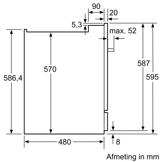 Modular vaatwasser iq500 sc76m541eu siemens for Bosch inspiratiehuis
