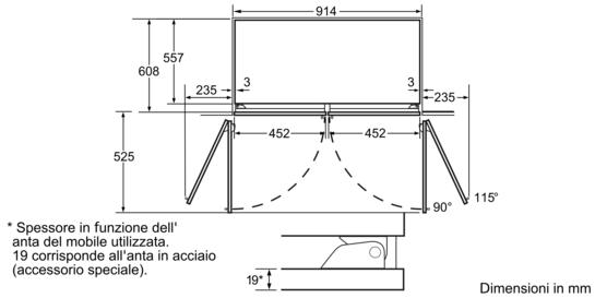 Trio - Frigocongelatore a 3 porte - iQ700 - CI36BP01 | SIEMENS