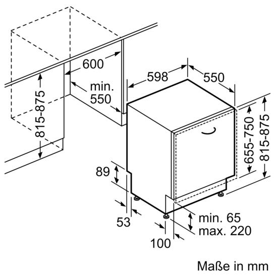 speedmatic geschirrsp ler 60 cm vollintegrierbar mit varioscharnier iq500 sn76p030eu siemens. Black Bedroom Furniture Sets. Home Design Ideas