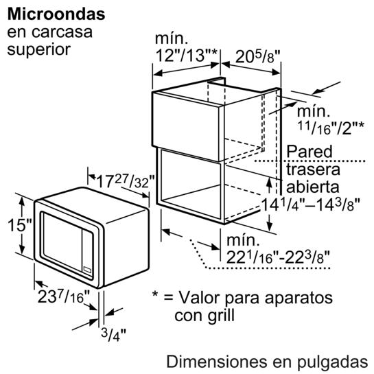 Microondas con marco acero inoxidable iq100 hf15g561 siemens - Microondas de encastrar ...