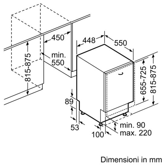 Lavastoviglie 45 cm speedmatic modello a scomparsa totale for Lavastoviglie siemens istruzioni