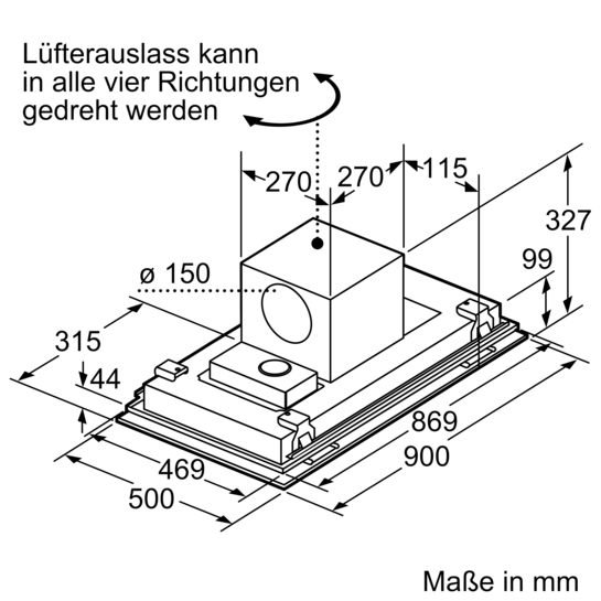 deckenl ftung 90 cm iq700 lf959re55 siemens. Black Bedroom Furniture Sets. Home Design Ideas
