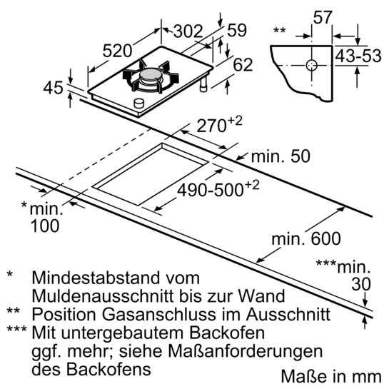 30 cm vario domino gas schaltermulde glaskeramik iq700 er3a6ad70d siemens. Black Bedroom Furniture Sets. Home Design Ideas