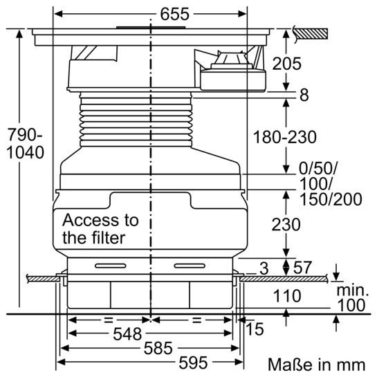 kochstelle mit integriertem dunstabzug 80 cm induktions kochfeld autark glaskeramik. Black Bedroom Furniture Sets. Home Design Ideas
