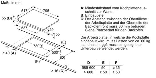 80 cm induktions kochfeld autark glaskeramik iq300. Black Bedroom Furniture Sets. Home Design Ideas