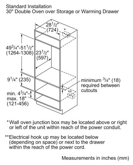 bosch wall oven installation instructions