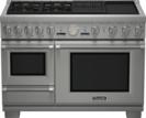 48 inch Professional Series Pro Grand Commercial Depth Dual Fuel Steam Range PRD48NCSGU