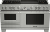 60 inch Professional Series Pro Grand Commercial Depth Dual Fuel Steam Range PRD606RESG