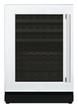 CLASSIC 24 - Inch Custom Panel Under Counter Glass Door Wine Reserve, Left Hinge
