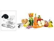 MUZXLVL1 The lifestyle package VeggieLove with continuous shredder: three standard disks, additional Asian vegetable disc and potato pankace-Rösti disc disc for delightful vegetarian dishes
