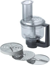 MUZ8MM1 Food processor: 3 discs, 1 blade, 6 functions