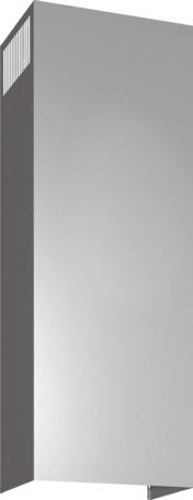 DHZ1223 - Skorstensförlängning vägg 1m Rostfritt stål