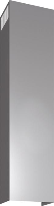 DHZ1233 - Skorstensförlängning vägg, 1.5m Rostfritt stål
