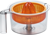 Transparent citruspresser med orange pressekegle