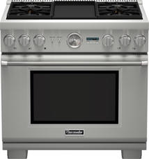 36 inch Professional Series Pro Grand Commercial Depth Dual Fuel Range PRD364JDGU