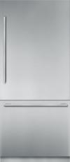 36 inch Stainless Steel Built in 2 Door Bottom Freezer, Pre-Assembled, Masterpiece® Handle