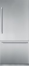 36 - Inch Stainless Steel Built in 2 Door Bottom Freezer, Pre-Assembled, Professional Handle