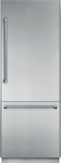 30 inch Pre-Assembled Built-In Bottom-Freezer with Professional Handles