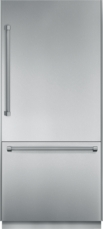 36 inch Pre-Assembled Built-In Bottom-Freezer with Professional Handles