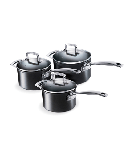 topf set le creuset aluminium stielkasserolen set 3 tlg. Black Bedroom Furniture Sets. Home Design Ideas