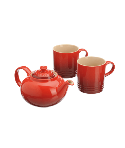 set le creuset tea for 2 set kirschrot 00573951. Black Bedroom Furniture Sets. Home Design Ideas