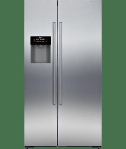American Style Fridge Freezer Stainless Steel Fingerprint