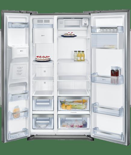 frigorifero side by side dispenser ghiaccio e acqua n 50. Black Bedroom Furniture Sets. Home Design Ideas