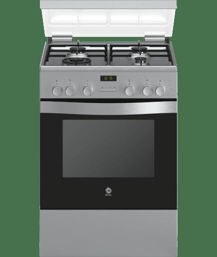 cocina de gas ancho 60 cm acero inoxidable 3cgx466bq