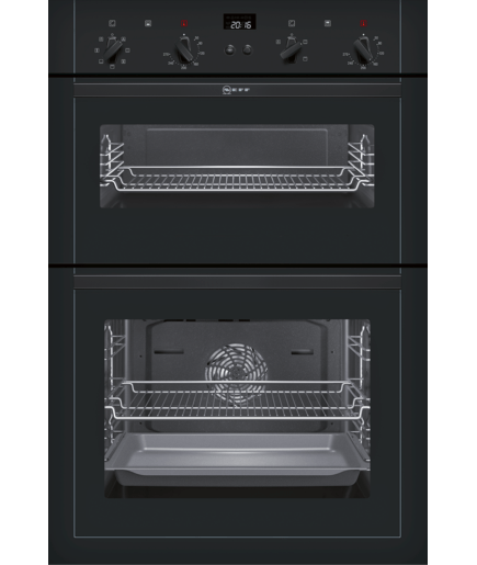 double oven black u14m42s5gb neff. Black Bedroom Furniture Sets. Home Design Ideas