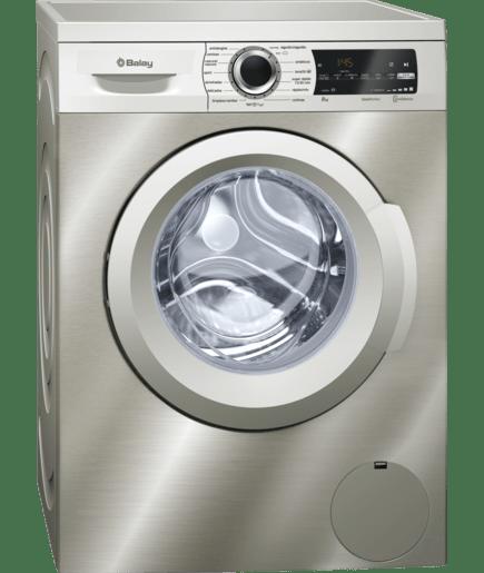 lavadora extrasilencio acero inoxidable antihuellas 3ts986xt balay. Black Bedroom Furniture Sets. Home Design Ideas