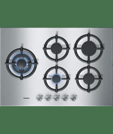 gaskookplaat met wokbrander 75 cm breed ec775sb20n siemens. Black Bedroom Furniture Sets. Home Design Ideas