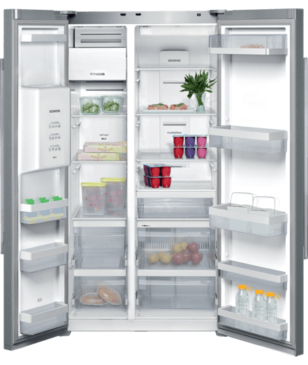 side by side refrigerator iq500 ka62dv71 siemens. Black Bedroom Furniture Sets. Home Design Ideas